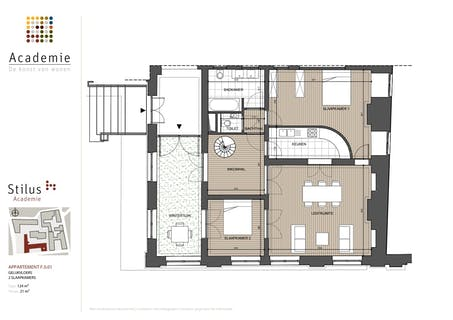Uitzonderlijk appartement in project Academie (Gent)