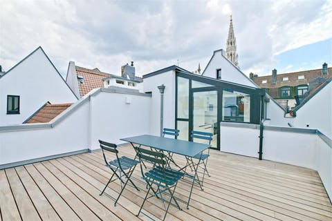 Grand Place Brussels: furnished apartment with one bedroom and exceptional terrace