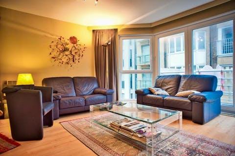 Appartement met 2 slaapkamers vlakbij zeedijk Duinbergen