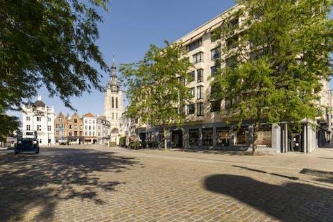 Lichtrijk en ruim appartement op de Grote Markt
