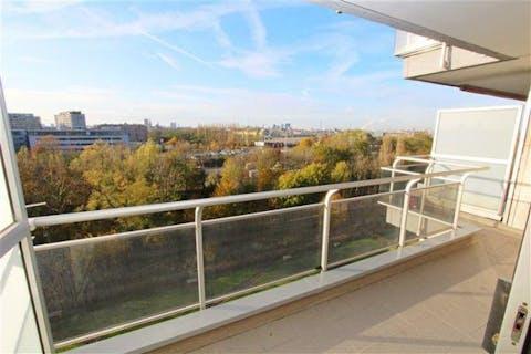 2 slaapkamer appartement met panoramisch uitzicht in Borgerhout