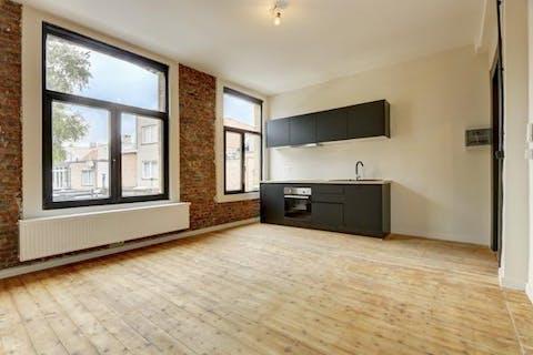 Gerenoveerd appartement (43m²) met 1 slaapkamer te Hoboken
