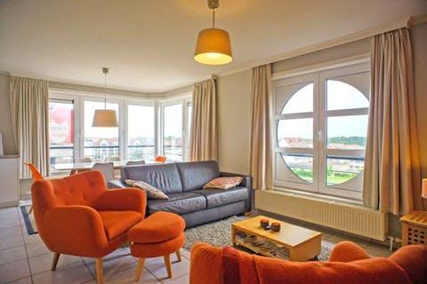 Hoekappartement met prachtig uitzicht in Knokke Heist