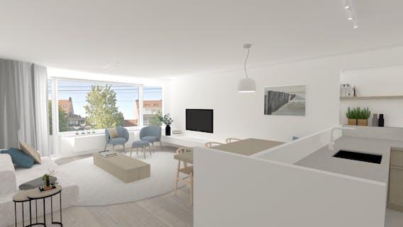 Gerenoveerd en lichtrijk appartement vlakbij de zeedijk van Knokke-Heist