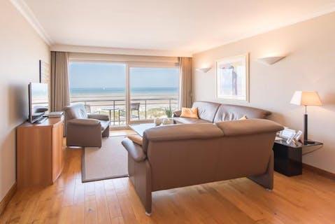 Fantastisch 2-slaapkamer appartement met frontaal zeezicht!
