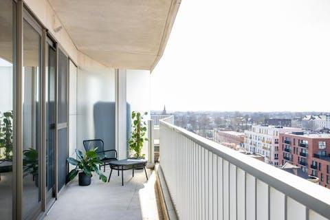 Mooi 3-slaapkamerappartement met zicht over Kortrijk centrum