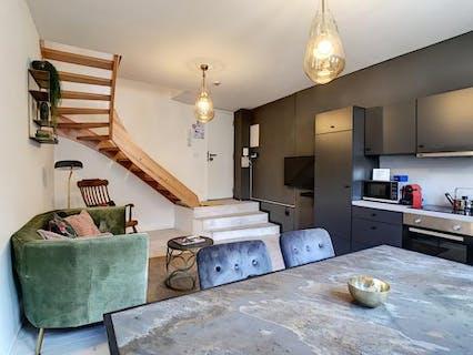 Perfect gerenoveerd duplex 1-slaapkamer in hartje Antwerpen