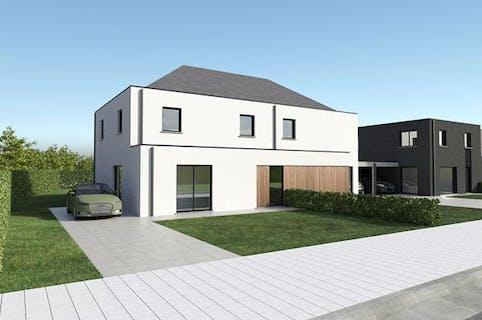 Halfopen nieuwbouwwoning te koop in centrum Kaprijke