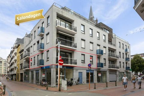 Ruim hoek appartement in Blankenberge